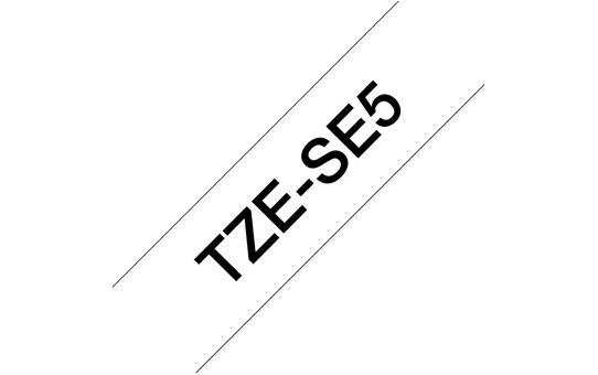 Genuine Brother TZe-SE5 Security Labelling Tape Cassette – Black on White, 24mm wide